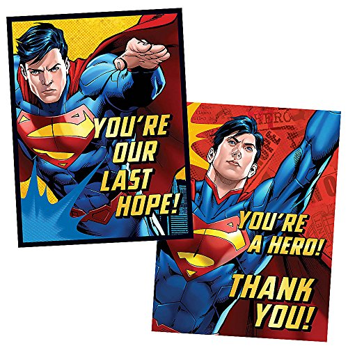 Superman Invitations & Thank You Cards Combo (8 each/16pkg)