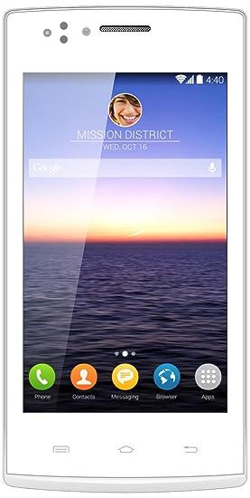 Inovalley GSM 40 N Smartphone débloqué 3G (Ecran: 4 pouces - 2 Go - Double SIM-Micro - Android) Blanc