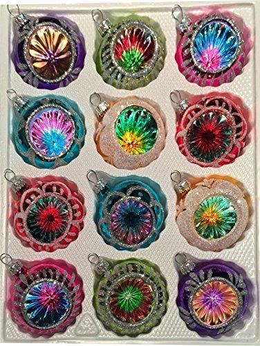 12 tlg glas weihnachtskugeln set in hochglanz vintage style christbaumkugeln weihnachtsschmuck - Weihnachtskugeln vintage ...