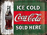 Tin Sign 15 x 20 cm - Coca Cola - Ice Cold Sold Here