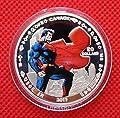 2013 Hero Superman American Cartoon Colored Silver Collectible Commemorative Coin