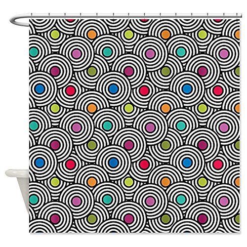 CafePress Optic Circles Shower Curtain - Standard