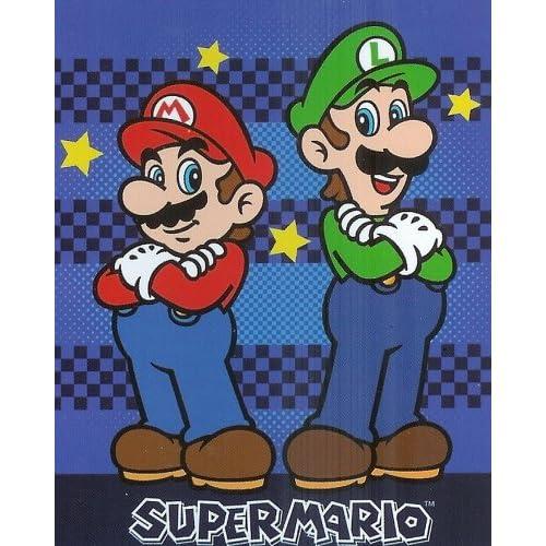 Super Mario Luigi Nintendo Micro Raschel Fleece Throw Blanket