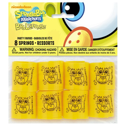 Mini SpongeBob SquarePants Spring Toys, 8ct - 1