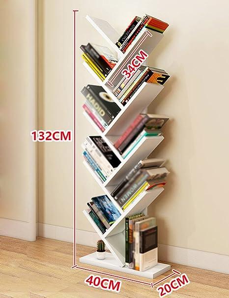 HWF Porta oggetti scaffali Tree Shape Bookshelf Soggiorno Libreria Scaffale Camera da letto per bambini Libreria per bambini Personalità moderna e minimalista ( Colore : Bianca )
