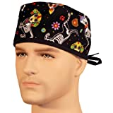 Mens And Womens Medical Scrub Cap - X-Ray Dogs