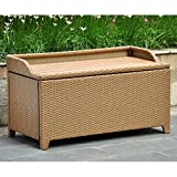 Barcelona Wicker Resin/Aluminum Outdoor Storage Trunk Bench Finish: Honey