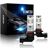 BEAMTECH H10 Led Fog Light Bulb,9145 9040 9140 CSP Chips 6500K 800 Lumens Xenon White Extremely Super Bright (Tamaño: H10 Led Fog Light Bulb)