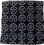 bandana noir pentagram devil diable 6...