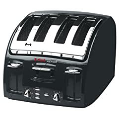 T-fal 5332002 Classic Avante 4-Slice Toaster with Bagel Function Black