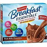 Carnation Breakfast Essentials, No Sugar Added Rich Milk Chocolate Powder, 8-Count Envelopes 64- 0.705 oz (20g) (Pack of 8)