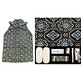 七五三 着物 3歳男の子用金襴袴「紺地、蜀江紋」と小物の7点セットBHT322-3