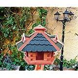 """Vogelhaus xxl, Futterhaus 53 cm Dach gr�n-blau E, wetterfestvon """"BTV Batovi"""""""