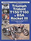 How to Restore Triumph Trident T150 T160   BSA Rocket III  YOUR step by step colour illustrated guide to complete restoration  Enthusiast s Restoration Manual
