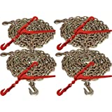 """5/16"""" x 20' G70 Chain and 5/16""""-3/8"""" G70 Lever Chain Binder (8pc Set)"""
