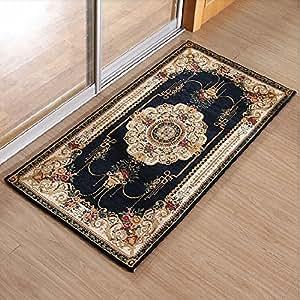Ustide European Large Area Carpet Jacquard Fabric Colorful Flowers Pattern Living