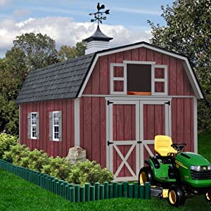 Amazon.com : Best Barns Woodville 10' X 16' Wood Shed Kit ...