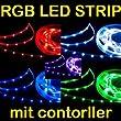 QUMOX 5m 5 Meter RGB 5050 LED SMD Strip Streifen Controller