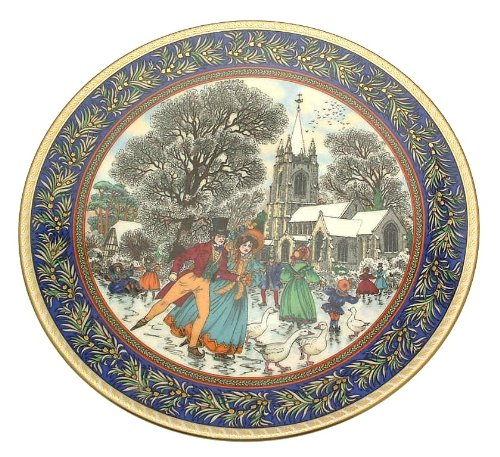 royal worcester christmas past series boxing day by