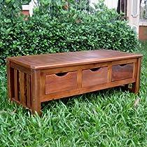 International Caravan Brodkey Backless Indoor/Outdoor Bench with Drawers