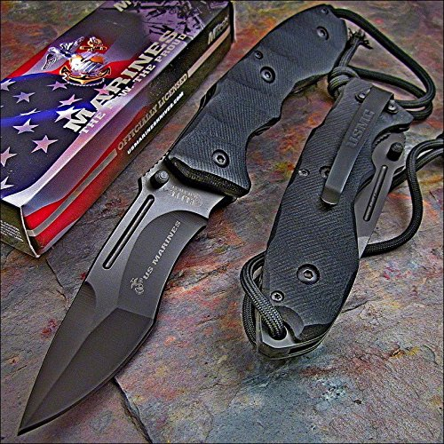 Usmc Officially Licensed Us Marines Tactical 440C G10 Knife New