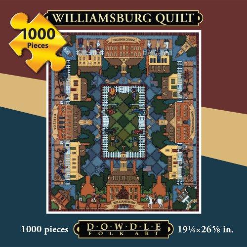 Jigsaw Puzzle - Williamsburg Quilt 1000 Pc By Dowdle Folk Art