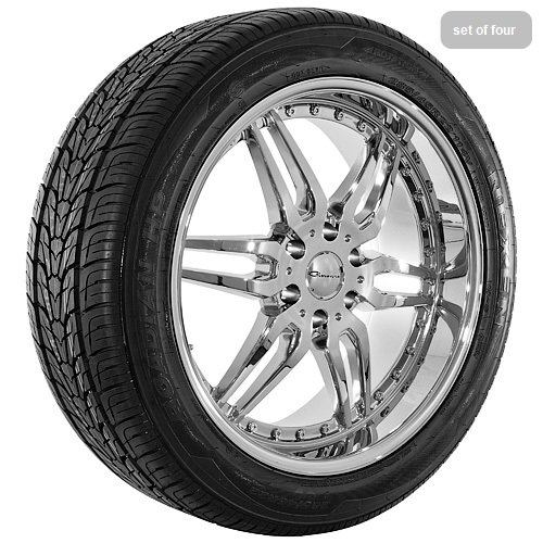 22 Inch Chrome 6135 Series Wheels Rims and Tires