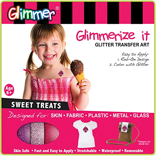 Glimmerize It! Glitter Transfer Art: Sweet Treats - 1