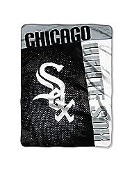 Chicago White Sox MLB Royal Plush Raschel Blanket (Strike Series) (60x80)
