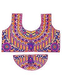 PurpleYou Women's Cotton Blouse (E5BLMC235, Multi Color)