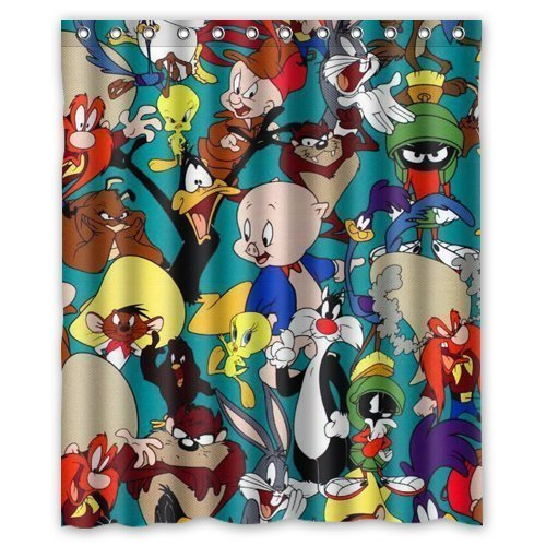 DIY NEW Shower Curtain New Promotion Looney Tunes Characters Custom Shower Curtain 60 Inch Wonderful