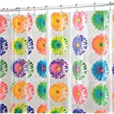 "mDesign Daisy Bloom EVA Shower Curtain, PVC-Free, Odorless, Water Proof - 72"" x 72"", Multi"