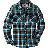 Let loose in our timeless flannels, featuring a new selection of exclusive yarn-dyed plaids. Featuring lightweight soft brushed 5.5 oz. pure cotton flannel for cozy comfort. Wear it alone or layer up during those brisk fall days. Tailored fit with embroidered decorations.<p><b>Material :</b>100% Cotton</p><p><b>Wash: </b>Machine wash cold, gentle cycle with like colors. Use only non-chlorine bleach when needed. Tumble dry low. Cool iron if needed.</p>