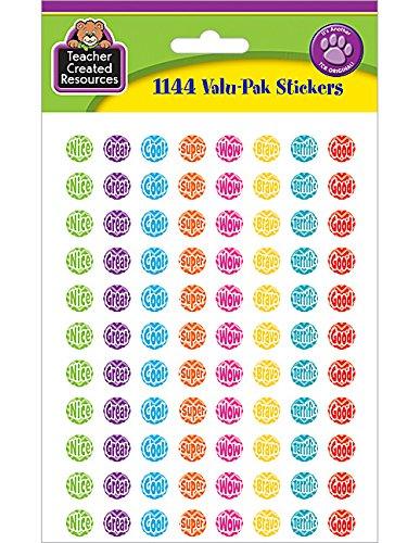 Teacher Created Resources Chevron Mini Stickers Valu-Pak (5606)