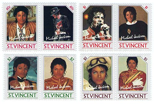 michael-jackson-mint-never-hinged-stamps-sg-940-947-8-stamps-issued-1985-stvincent-mnh