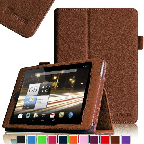 Fintie Folio Case Cover Schutzhülle Tasche Etui für Acer Iconia A1-810 / A1-811 7.9 Zoll Tablet Slim Fit mit Stylus-Halterung - Braun