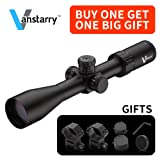 Vanstarry Rifle Scope 30mm Tube 4-16x44mm 1/4 Moa Adjustments Second Focal Plane Enhanced Mil-Dot Reticle Matte (With Locknut) (Color: Black)