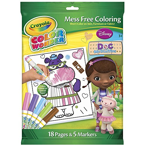 Doc Mcstuffins Mess Free Coloring Wonder Markers Includes 5 Markers & 18 Pages