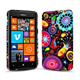Juju Village Swirls Polka Dot Jelly Fish Soft Silicone TPU Gel Case Back Cover For Nokia Lumia 625
