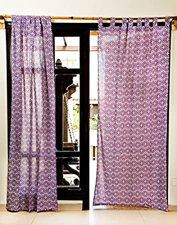 Buy Violet Mughal Curtains Length-90 Inch. Width-42 Inch. Online ...