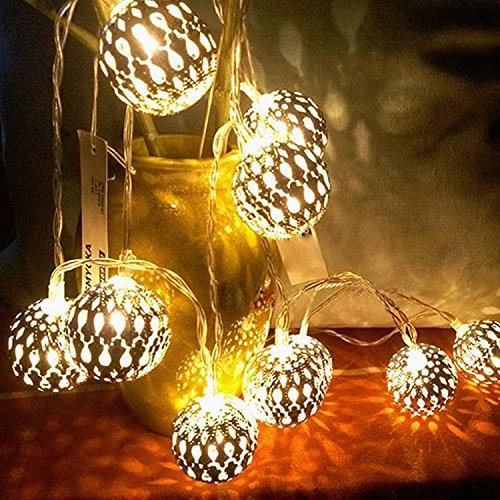 YZG 室内装飾 クリスマスツリー、ワードローブ、テーブル、保育室、ガーデンパーティー、フェンス、パティオ イルミネーション 飾り LED小型ボールイルミネーションライト 20LEDライト 電池モデル Home Led