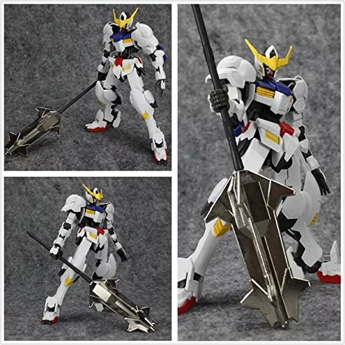 Metal Weapon Hammer Spear Silver color for Bandai TV 1/100 MG ASW-G-08 Barbatos Gundam (G Gundam 1 100 compare prices)