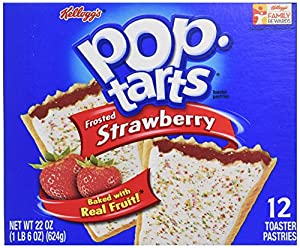 Kellogg's Pop-Tarts Frosted Strawberry, 12 Count, 22 Oz
