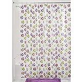 InterDesign Novelty EVA Shower Curtain, 72 x 72-Inch, Fishy, Pink/Purple
