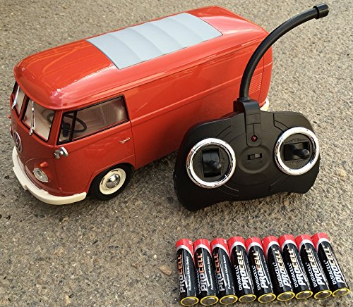 RC ferngesteuert VW Bulli 1962 T1 – 1:18 RTR , komplett-Set , Licht inkl. Fernsteuerung – DER KLASSIKER ! Bus oder Transporter, Farbe wählbar. (Transporter – ROT) jetzt kaufen