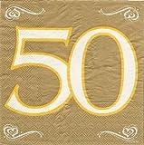 Servietten 50 Gold Hochzeit 20St. Hochzeitsdeko Goldhochzeit