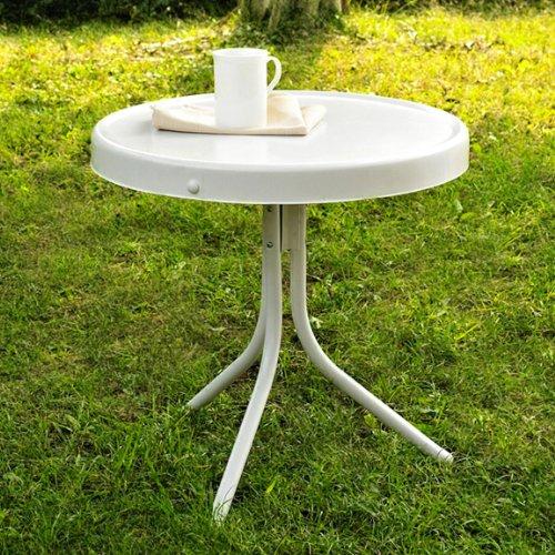 Retro Patio Furniture Crosley Furniture Griffith Metal 20 Inch Side Table W