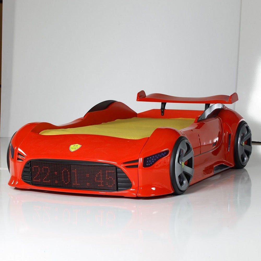 Autobett mit LED Beleuchtung Rot Pharao24
