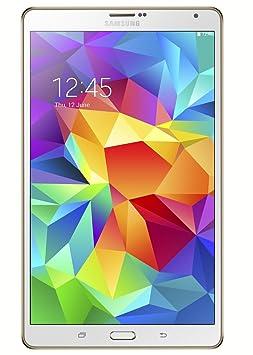 Tablette Samsung Galaxy Tab S 8,4 pouces (Blanche) - (processeur Octa-Core 1,9 GHz, 3 Go de RAM, 16 Go de stockage, Wi-Fi, Android 4.4)