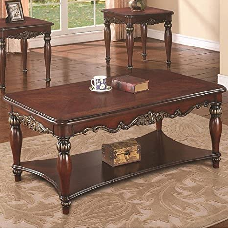 Coaster Home Furnishings Coffee Table, Dark Cherry